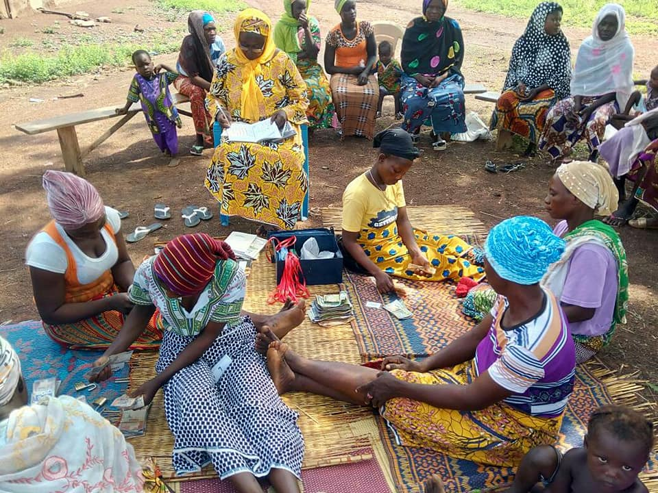 Advance women farmers having their share-out in various communities