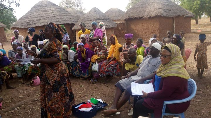"Training of ""USAID ADVANCE FARMERS"" at various communities."